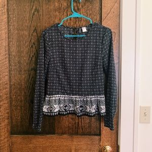 H&M long-sleeved blouse!